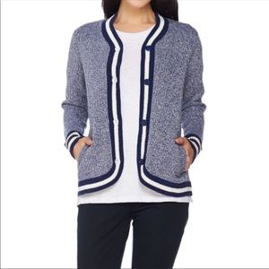C. Wonder Blue & White Cardigan Sweater EUC